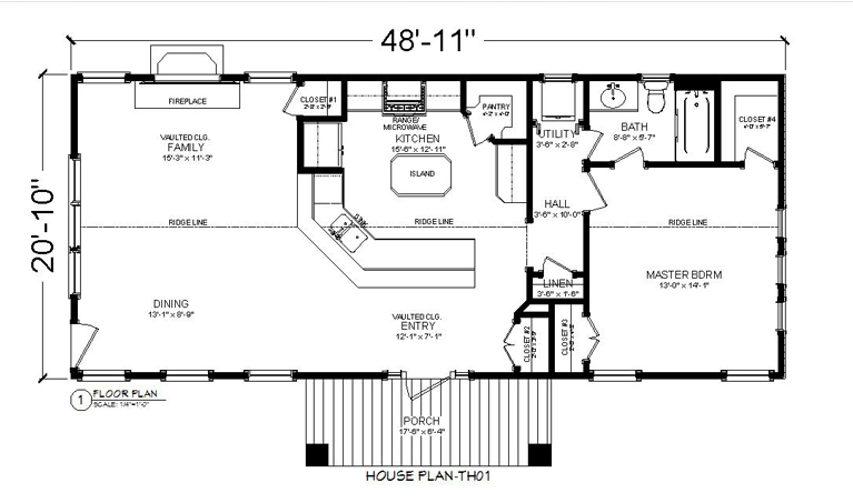 HOUSE PLAN-TH01-FOOR PLAN