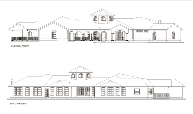 CCHD-009-FRNT&REAR ELEVATION