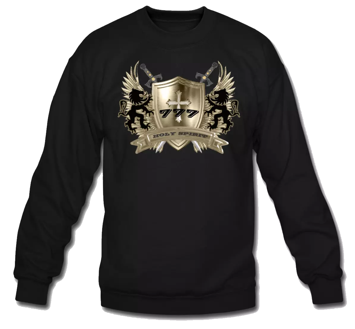 HOLY SPIRIT GOLD SHIELD-SWTSHIRT
