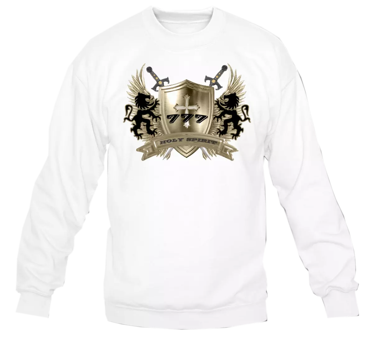 HOLY SPIRIT GOLD SHIELD-SWTSHIRT2