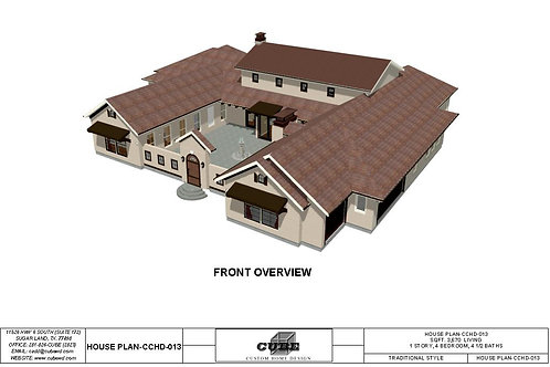 CCHD 013-1 STORY, 4 BEDROOM,4 1/2 BATH, 3,670 SQFT.