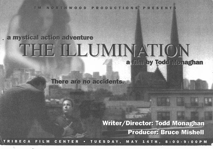Original The Illumination short film invitation by renowned New York City Artist Todd Monaghan