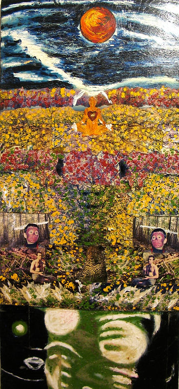 Fall is one of renowned New York City Artist Todd Monaghan's first collages.