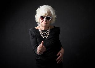 Grandmother flipping people off.jpg