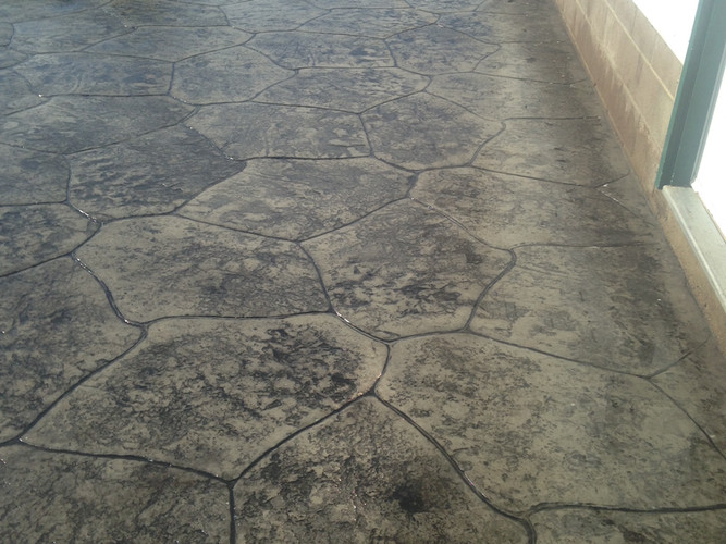 Stamped & stained patio