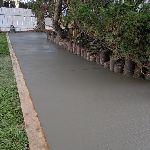 Broomed finish sidewalk