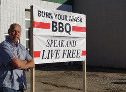 'Burn Your Mask BBQ' event held on main street