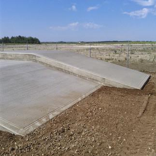 Double level concrete loading dock
