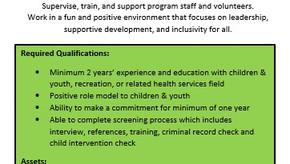 Heartland Youth Center is hiring a Program Coordinator