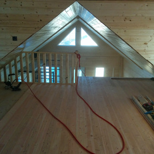 Pine finished loft