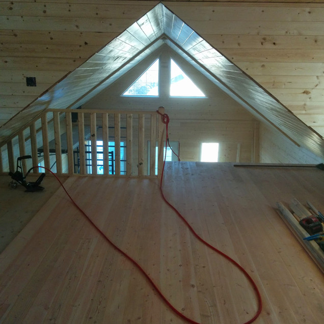 Pine finished loft