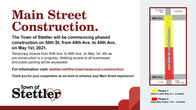 Main Street Construction to Commence on May 1st, 2021