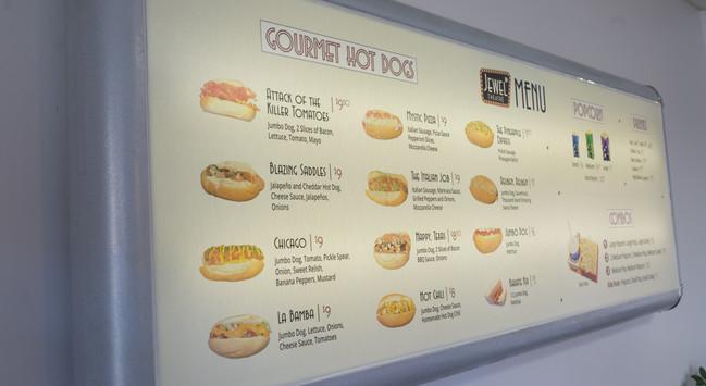 Our vintage menu board