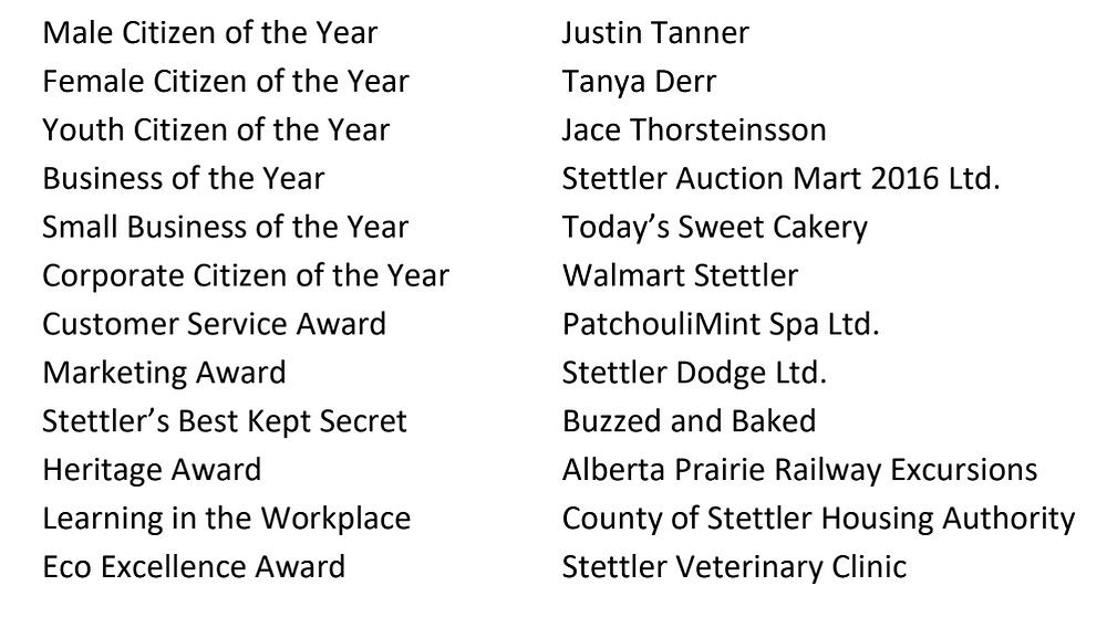 Stettler Business Awards