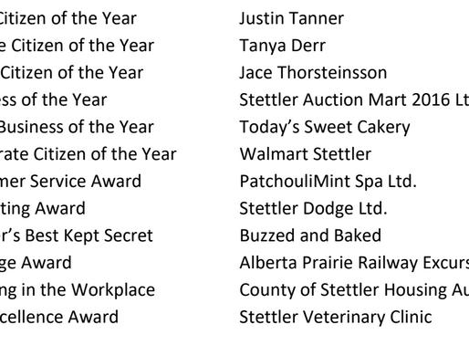 Stettler Citizen & Business Awards Gala
