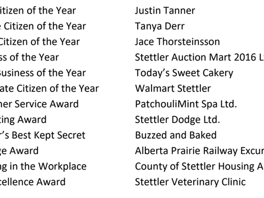 Stettler Citizen & Business Awards Gala