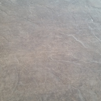 Close up of stamped concrete