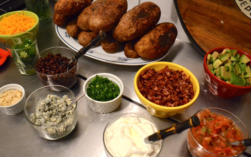 Baked Potato Bar is a favourite