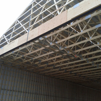Header over 40ft wide opening