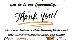 Thank you Community Volunteers!