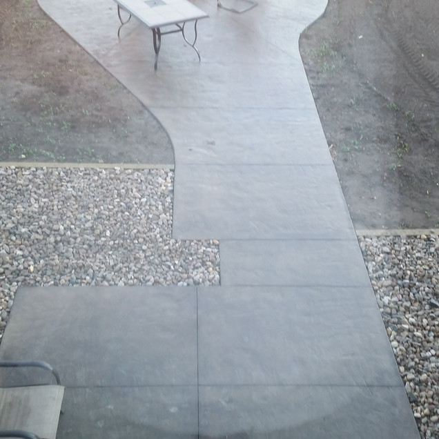 Stamped patio
