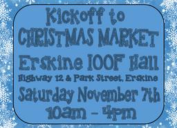November 7 Erskine Kickoff to Christmas Market
