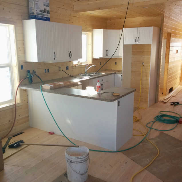 Custom kitchen construction