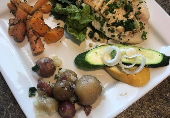 Delicious catered meals