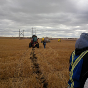 Plowing in new gas service