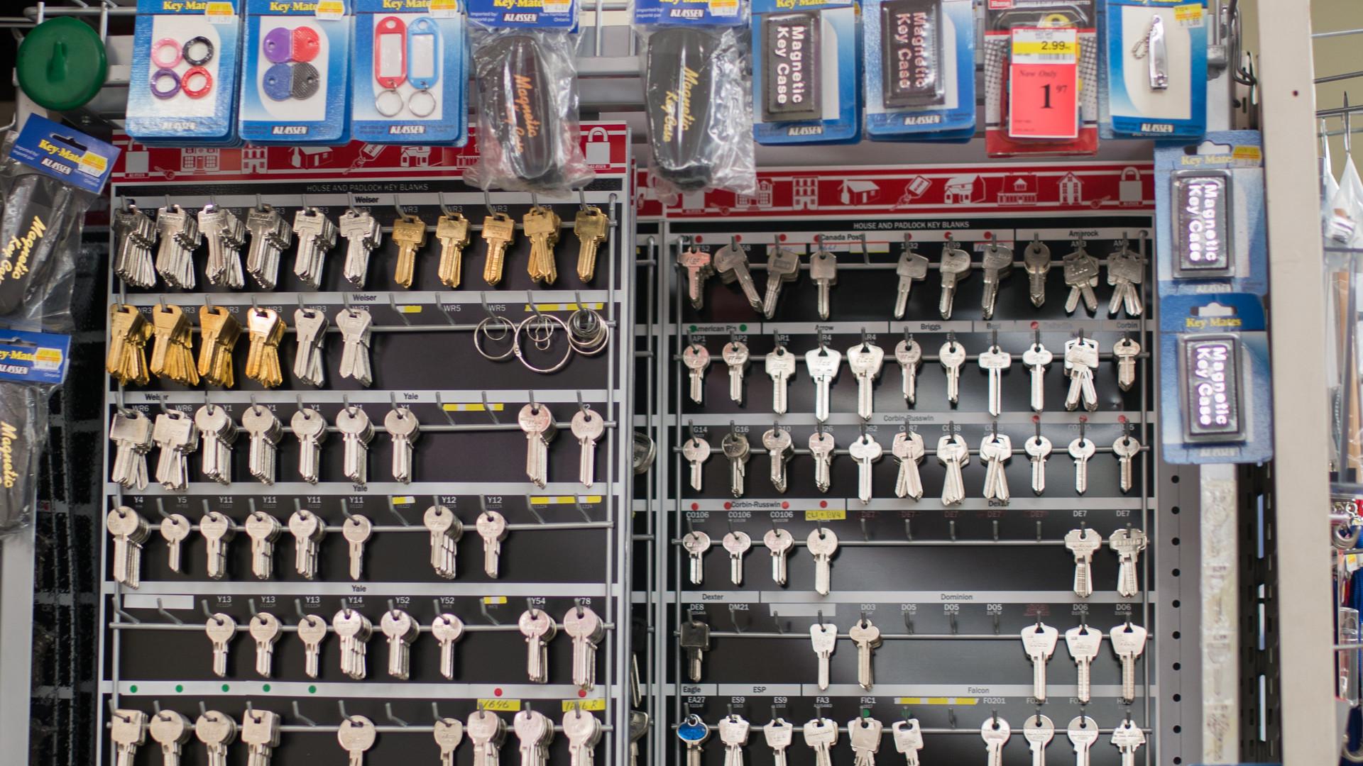 We cut keys