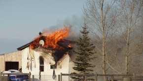 Mobile home fire northwest of Stettler