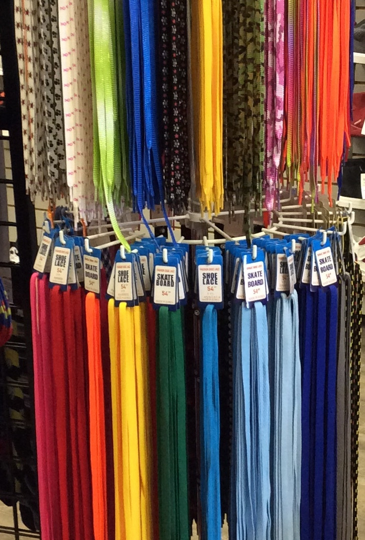 Every colour of shoe lace!
