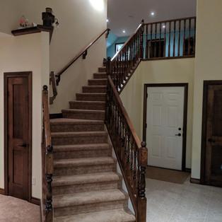 Custom stairs & railing