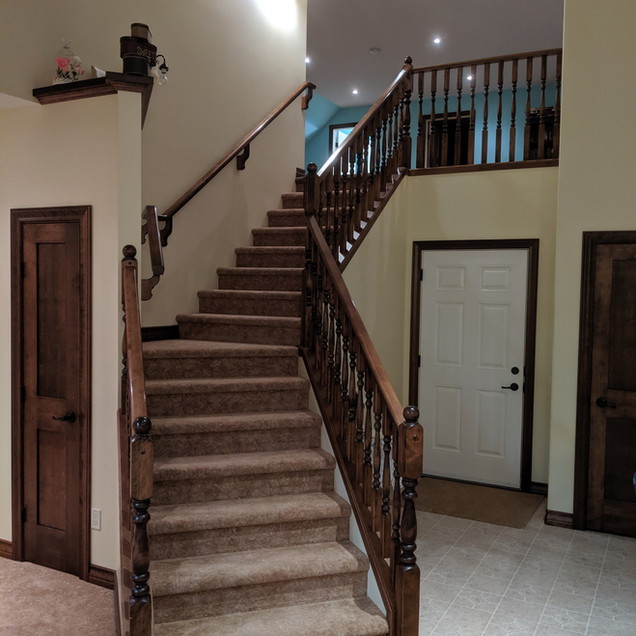 Custom stairs & railing