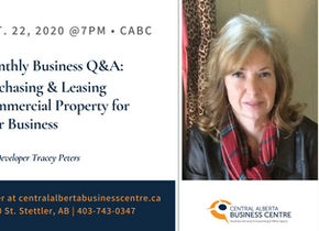 Tracy Peters leading Commercial Property Q&A on October 22