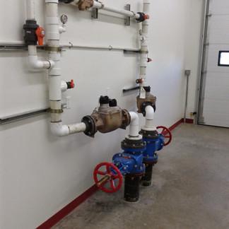 Inside of Bulk Water Truck Fill Station