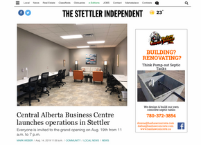 Stettler Independent article on the opening of CABC