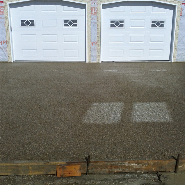 Exposed aggregate driveway