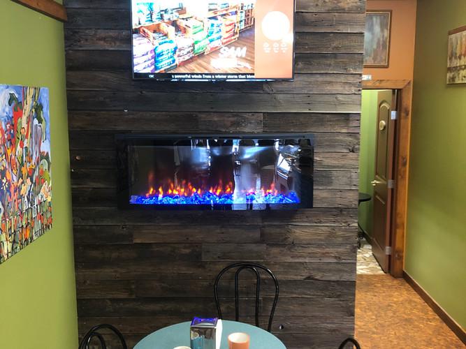 Digital ad display at The Coffee Tree
