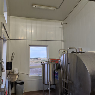 Milk tank room in Dairy Barn