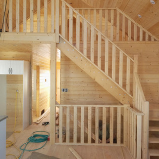 Pine interior finish