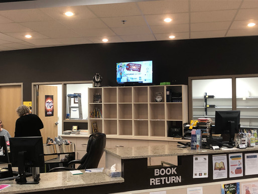Stettler Library Digital Display