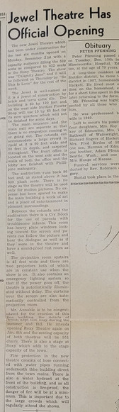 Newspaper review of the Jewel Theatre