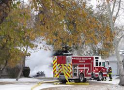 Spruce Park fire engulfs trailer