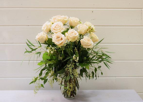 Vintage Thistle Dozen Roses