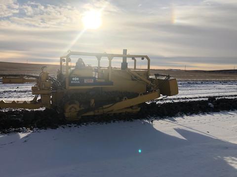 Installing gas line in winter