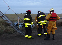 Single vehicle rollover north of Stettler