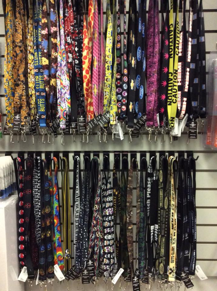 lanyards of every colour