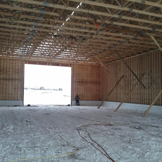 Inside of 7,200 sqft farm shop