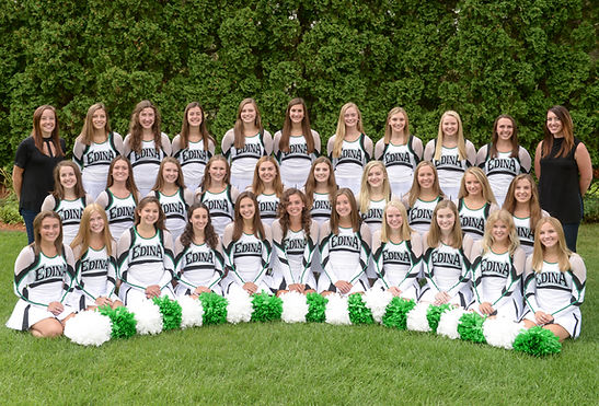 EHS Hornettes Varsity with Coaches 18-19